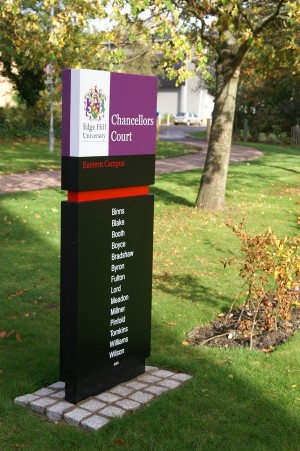 Edge Hill University- Colour Coded Monolith