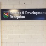Estates and Development  Reception Tray Sign