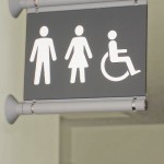 Wall Mounted Toilet Sign