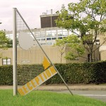 Bespoke 'sail' monolith signs